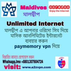 Pay Memory VPN Now Unlimited Internet working Maldives Unlimited Ooredoo Network