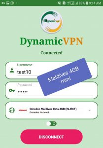 Dynamic vpn Now Good working Maldives unlimited internet.