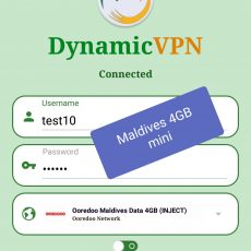 Dynamic vpn Now Good working Maldives unlimited internet.