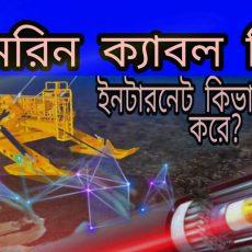 what is the sub marine cable । কিভাবে সাব মেরিন ক্যাবল কাজ করে ?